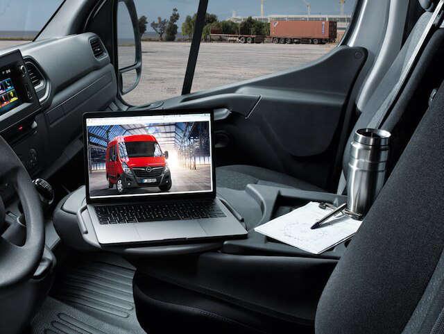 Opel, Movano, універсальність, салон, офісний столик