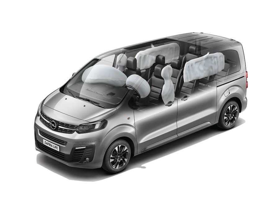 Opel, Zafira Life, безпека, подушки безпеки